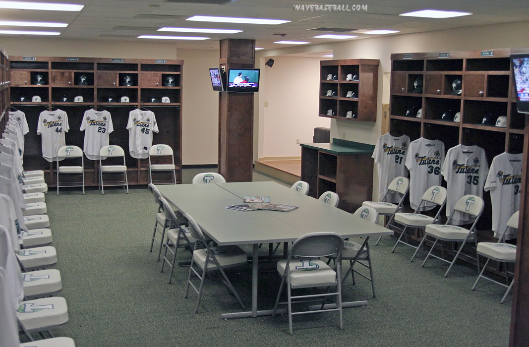 Tulane Baseball Locker Room